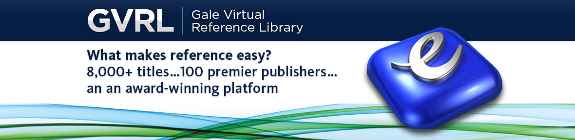 Welcome to GVRL, thousands of titles from over 100 publishers on an award winning platform.