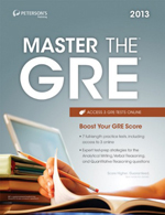 Peterson's Bundle 1: Peterson's Master The GRE 2013
