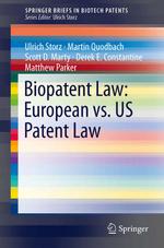 Biopatent Law: European vs. US Patent Law