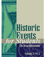 Historic Events for Students: The Great Depresssion