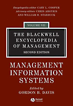 Blackwell Encyclopedia of Management: Vol. 7: Management Information Systems