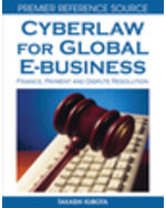 Cyberlaw for Global E-business: Finance, Payment and Dispute Resolution