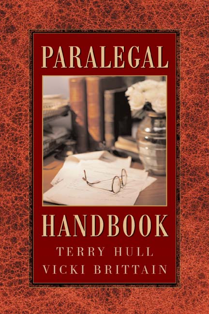 ???label.coverImageAlt??? The Paralegal Handbook 1st Edition by Brittain/Terry L. Hull, JD