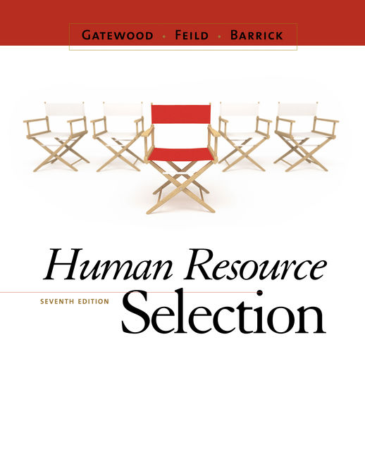 Product cover for Human Resource Selection 7th Edition by Robert Gatewood/Hubert S. Feild/Murray Barrick