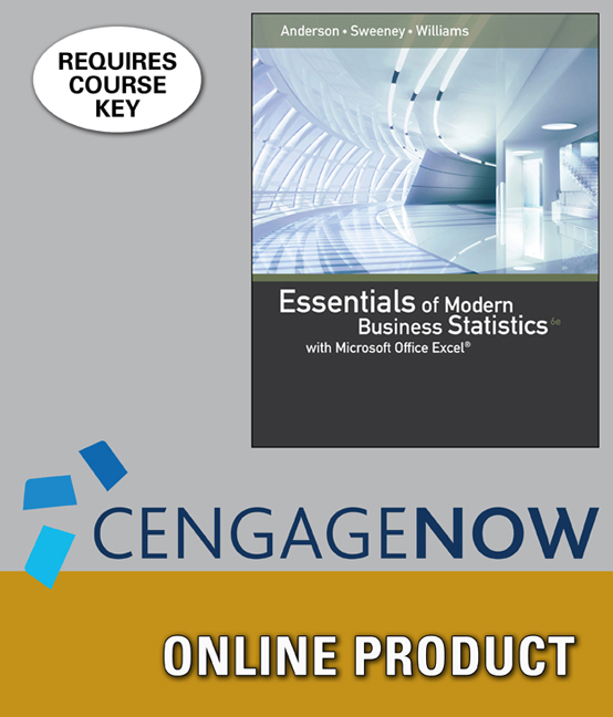 CengageNOW for Essentials of Modern Business Statistics with