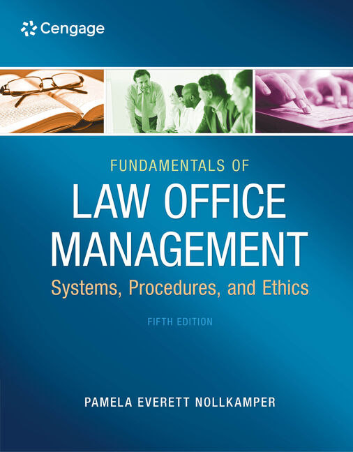 Fundamentals of law office management 5th edition 9781133280842 fundamentals of law office management 5th edition fandeluxe Image collections