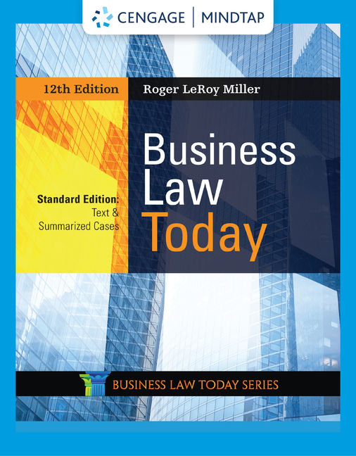 MindTap for Business Law Today, Standard: Text & Summarized