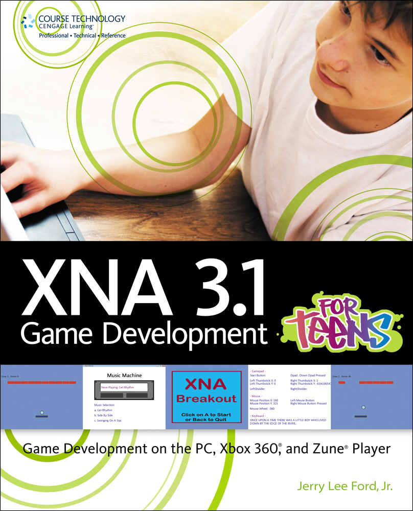 Product cover for XNA 3.0 Game Development for Teens 1st Edition by Jerry  Lee Ford,