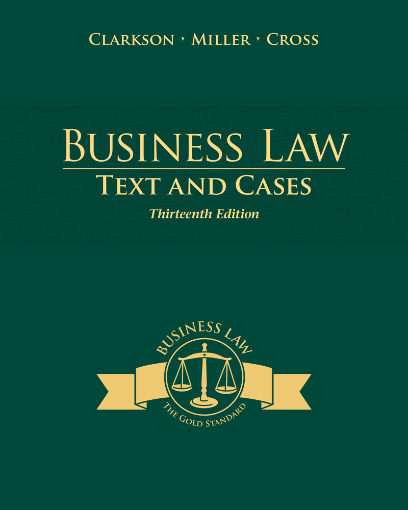 Product cover for Business Law: Text and Cases 13th Edition by Kenneth W.  Clarkson