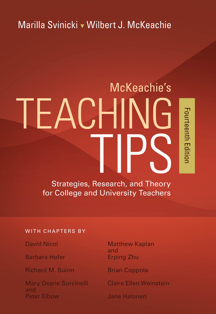 Mckeachies teaching tips 14th edition cengage fandeluxe Image collections