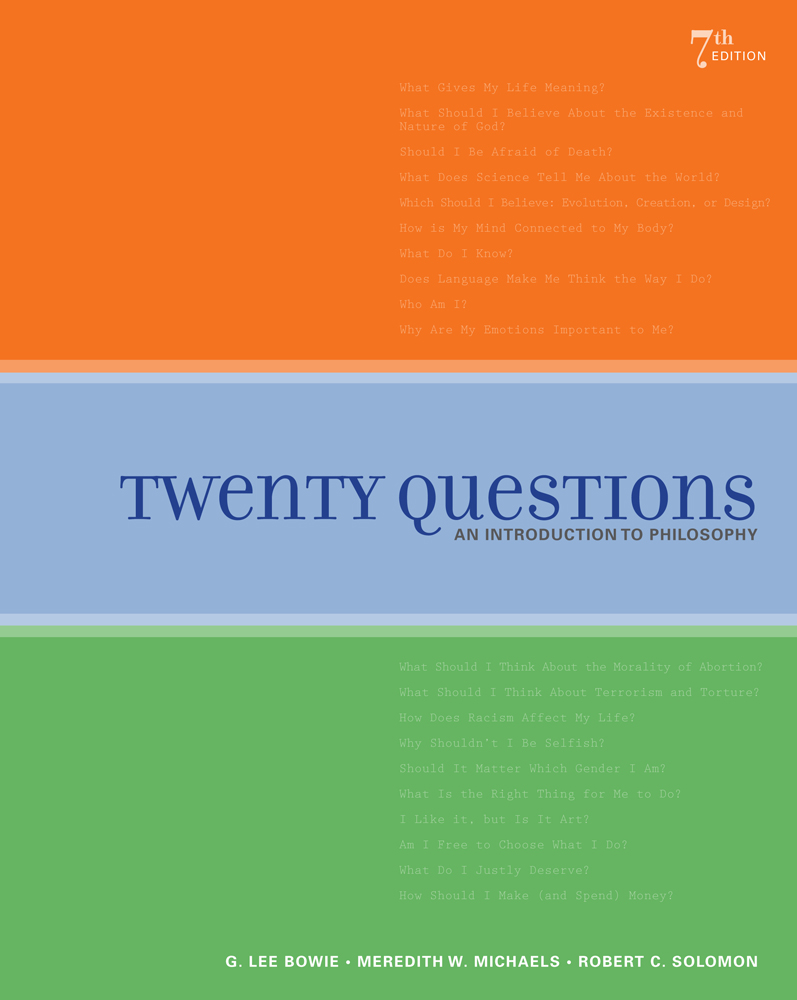 Twenty questions an introduction to philosophy 7th edition cengage fandeluxe Image collections