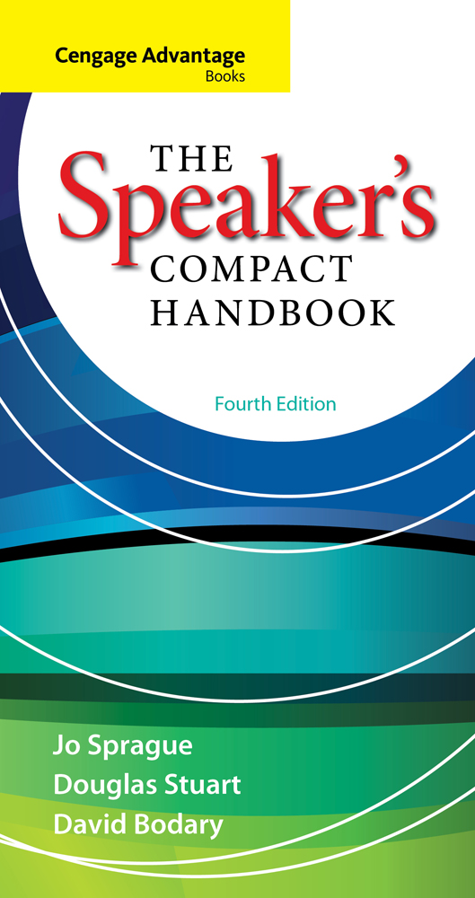 Product cover for Cengage Advantage Books: The Speaker's Compact Handbook 4th Edition by Jo Sprague/Douglas Stuart/David Bodary