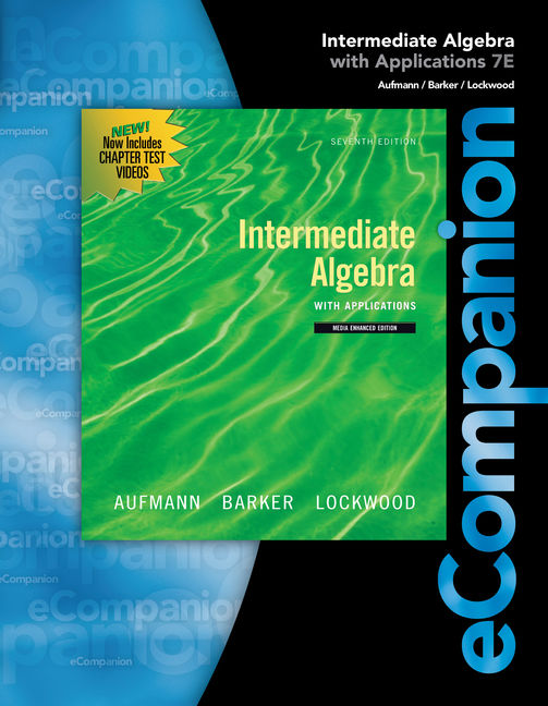 Ecompanion for aufmannlockwoods intermediate algebra 1st edition product cover for ecompanion for aufmannlockwoods intermediate algebra 1st edition by richard n fandeluxe Images