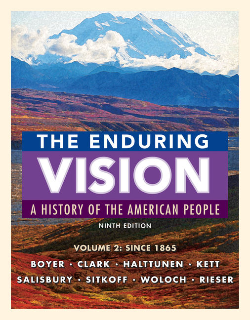 The enduring vision volume ii since 1865 9th edition the enduring vision volume ii fandeluxe Image collections