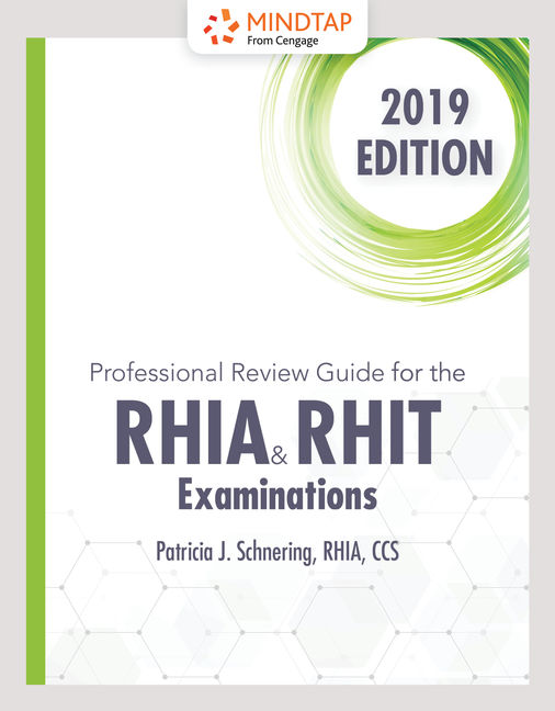 product cover for schnerings professional review guide online for the rhia and rhit examinations 2019