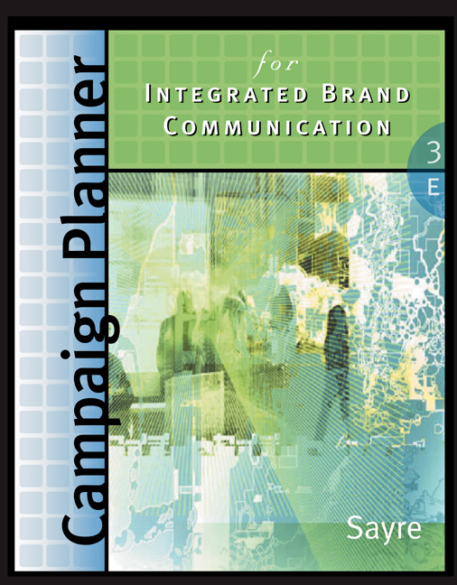 Product cover for Campaign Planner for Integrated Brand Communications 3rd Edition by Shay Sayre