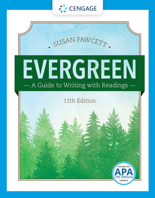 product cover for evergreen a guide to writing with readings 11th edition by susan fawcett