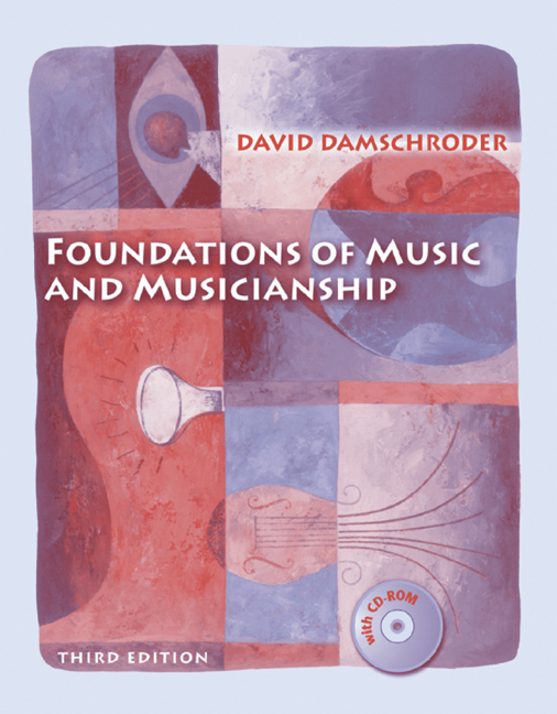 ???label.coverImageAlt??? Foundations of Music and Musicianship 3rd Edition by David A. Damschroder