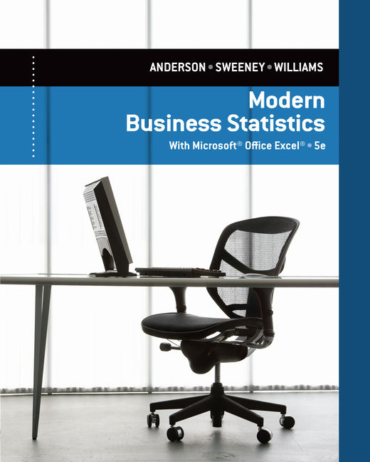 ???label.coverImageAlt??? CengageNOW for Modern Business Statistics with Microsoft® Excel® 5th Edition by David R. Anderson/Dennis J. Sweeney/Thomas A. Williams