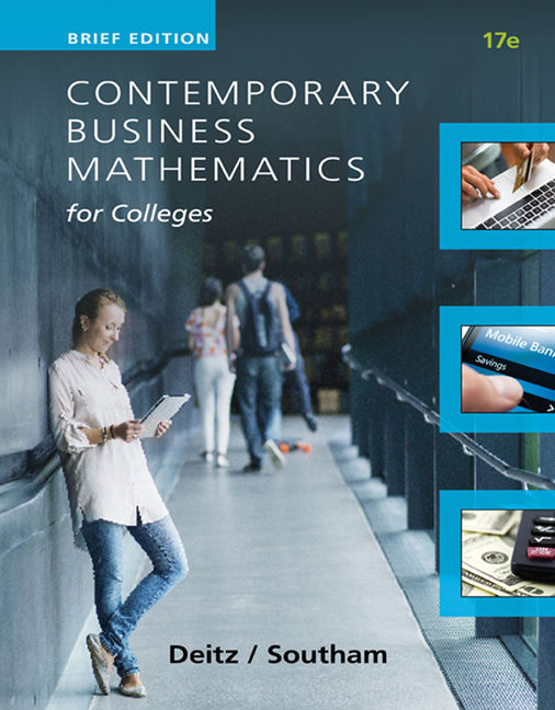 Contemporary business mathematics for colleges brief course 17th contemporary business mathematics for colleges brief course 17th edition cengage fandeluxe Gallery