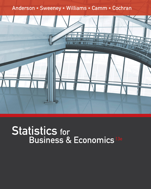 Statistics for business economics 13th edition cengage product cover for statistics for business economics 13th edition by david r anderson fandeluxe Gallery