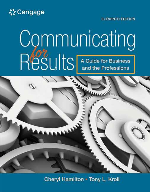 Communicating for results a guide for business and the professions communicating for results a guide for business and the professions 11th edition fandeluxe Choice Image