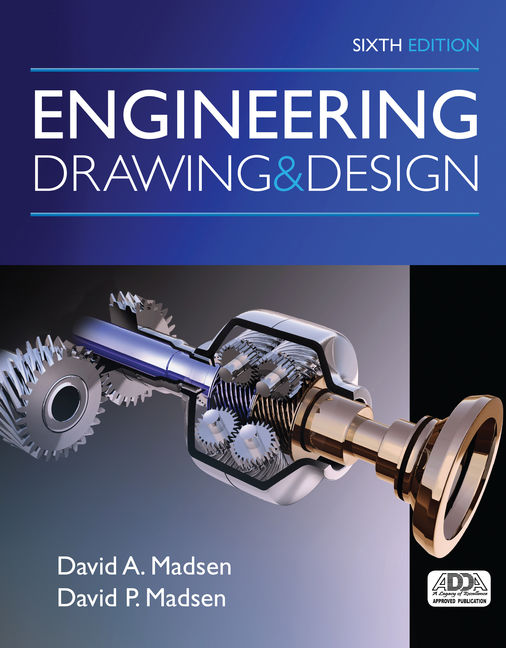 Product cover for MindTap Drafting for Engineering Drawing and Design 6th Edition by David A Madsen, B.S., M.Ed./David P. Madsen, B.S., M.S.