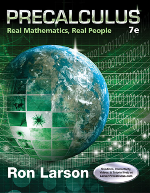 ???label.coverImageAlt??? Precalculus: Real Mathematics, Real People 7th Edition by Ron Larson
