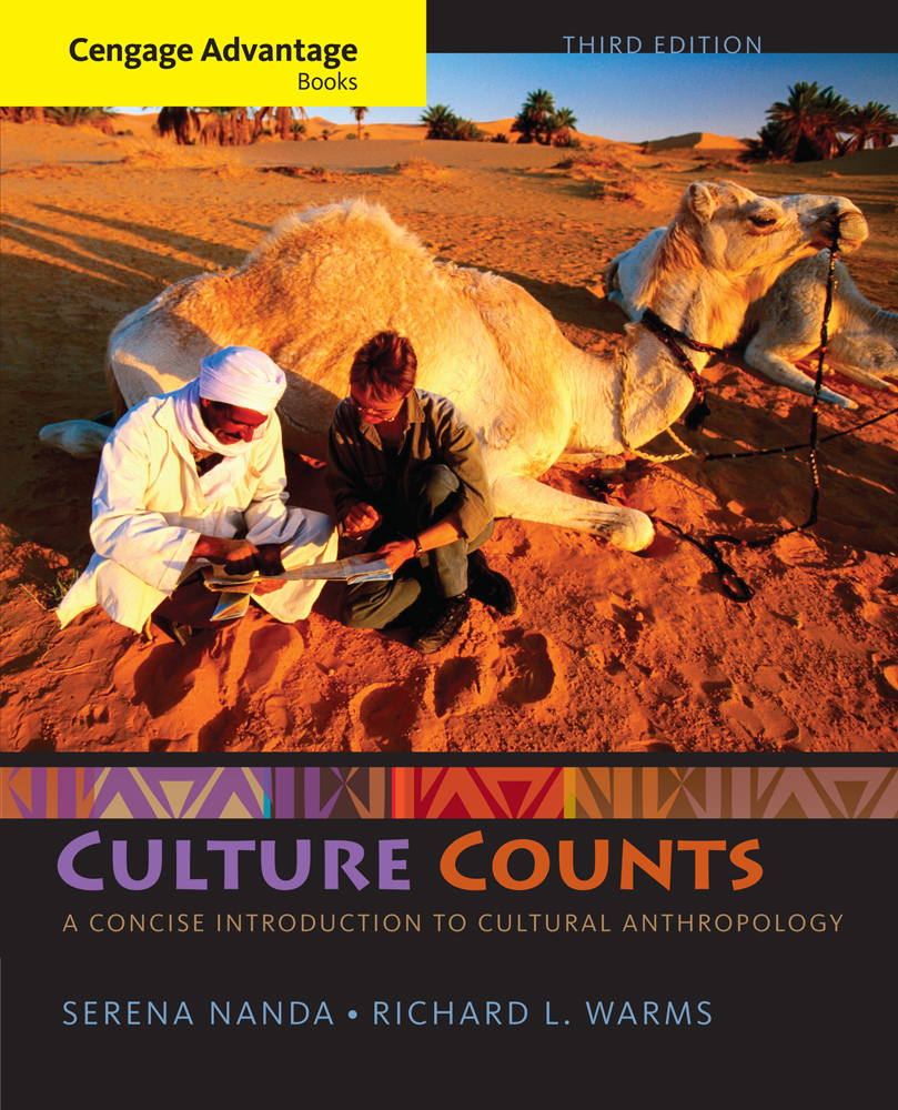 Product cover for Cengage Advantage Books: Culture Counts: A Concise Introduction to Cultural Anthropology 3rd Edition by Serena Nanda/Richard L. Warms