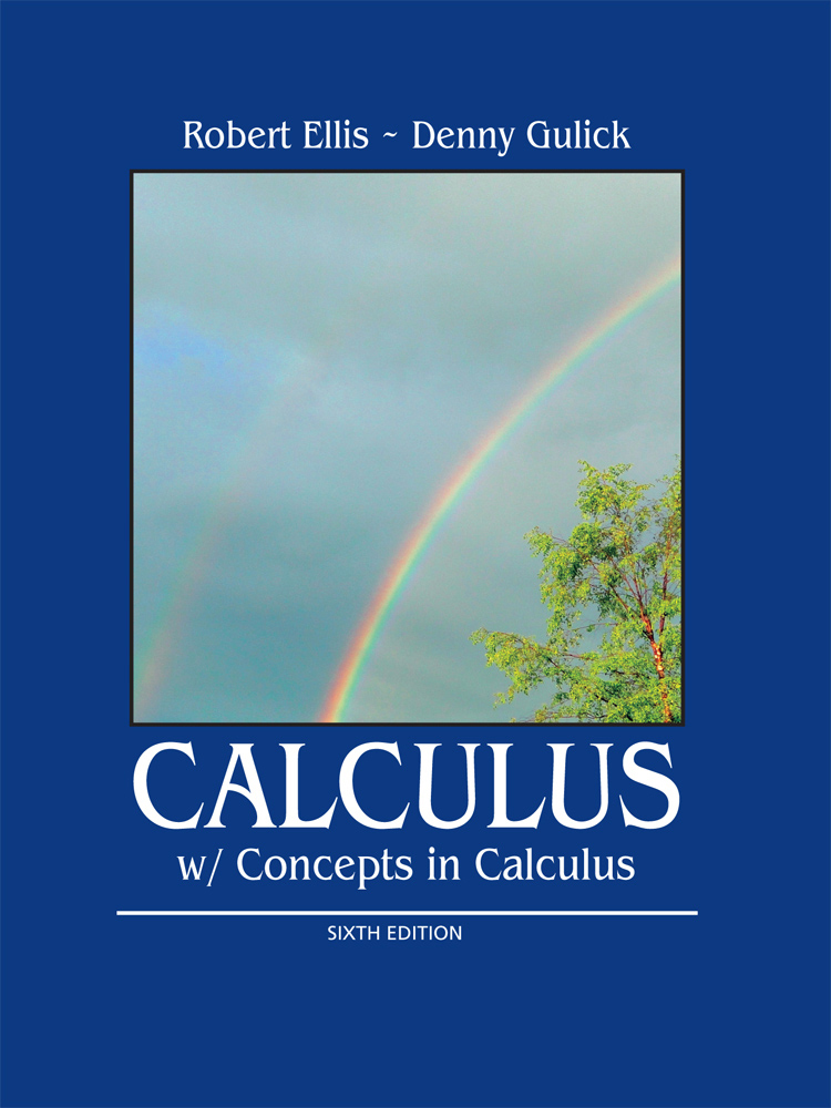 Product cover for Calculus with Concepts in Calculus 7th Edition by Robert Ellis/Denny Gulick