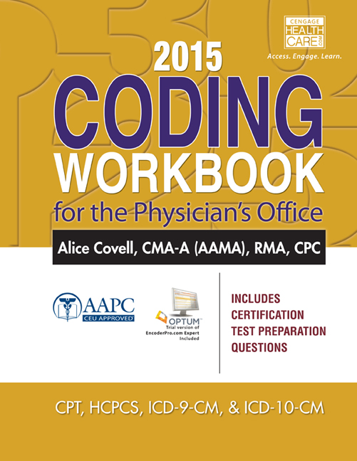 2015 Coding Workbook for the Physician\'s Office, 1st Edition - Cengage