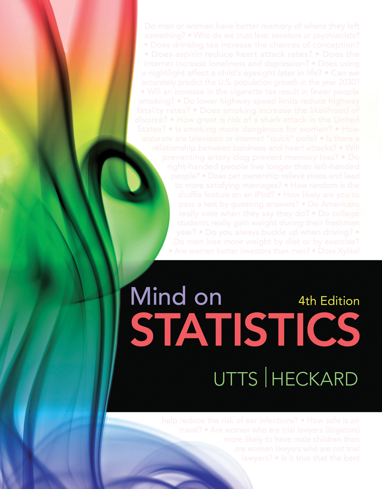 Product cover for Mind on Statistics 4th Edition by Jessica M. Utts/Robert F. Heckard