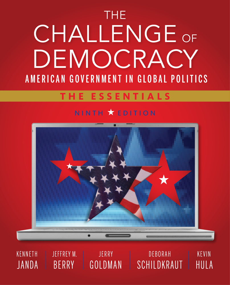 Product cover for The Challenge of Democracy: American Government in Global Politics, The Essentials 9th Edition by Kenneth Janda/Jeffrey M. Berry/Jerry Goldman/Deborah Schildkraut/Kevin W. Hula
