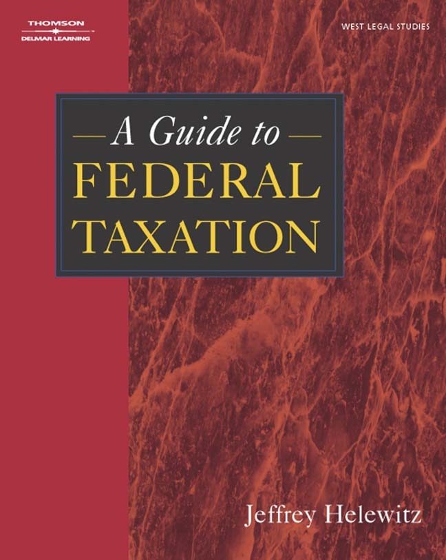 Product cover for A Guide to Federal Taxation 1st Edition by Jeffrey A. Helewitz
