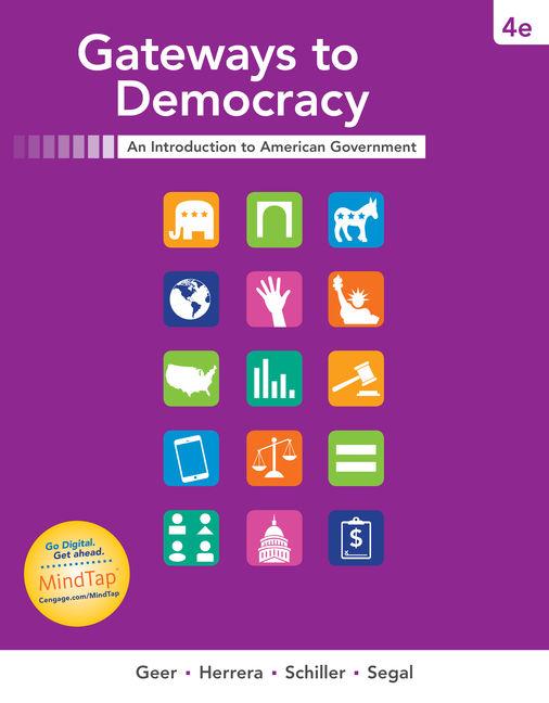Gateways to democracy 4th edition cengage product cover for gateways to democracy 4th edition by john g geerrichard herrera fandeluxe Image collections