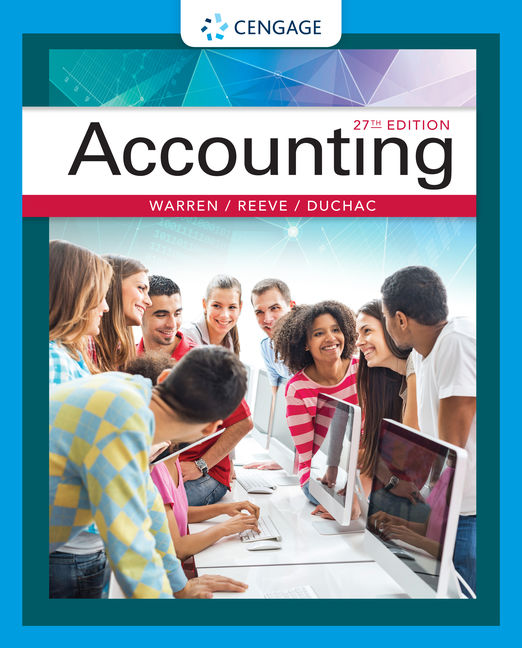 Accounting 27th edition cengage product cover for accounting 27th edition by carl warrenjames m reeve jonathan fandeluxe Image collections