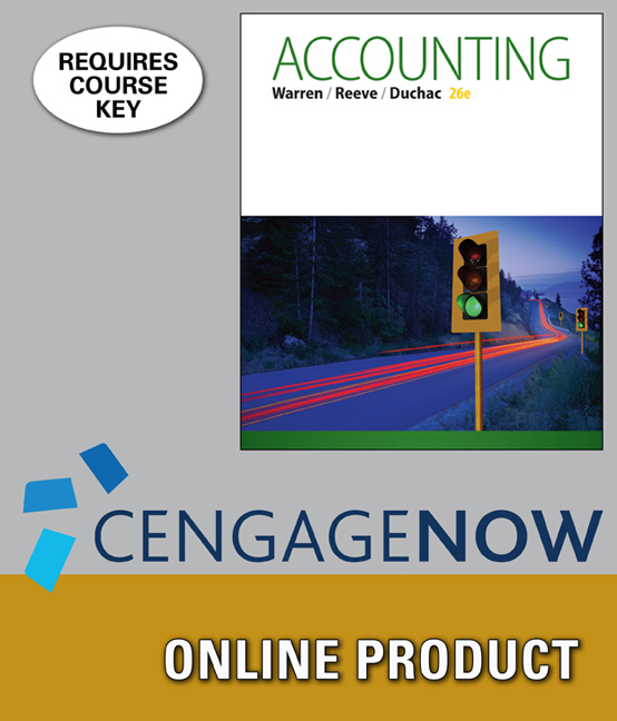 Product cover for CengageNOWv2 for Accounting 26th Edition by Carl Warren/Jim Reeve/Jonathan Duchac