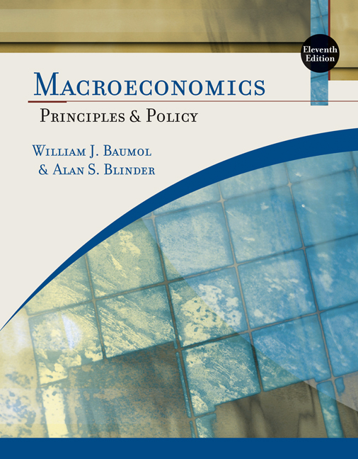 Product cover for Macroeconomics: Principles and Policy 11th Edition by William J. Baumol/Alan S. Blinder