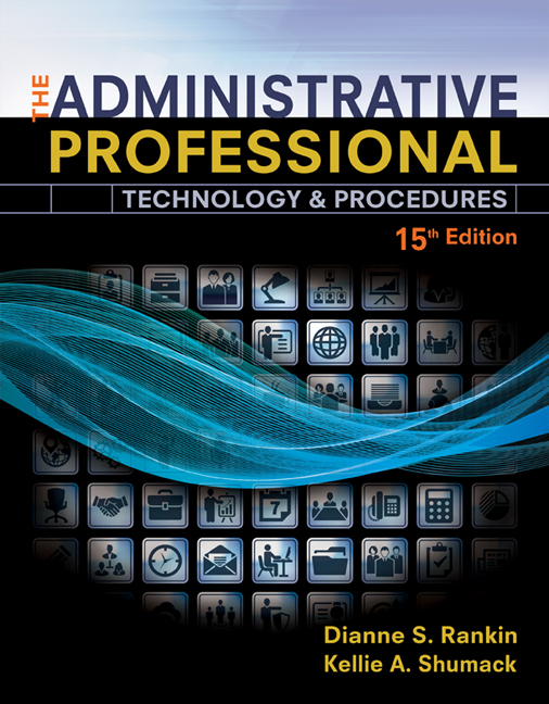 The administrative professional technology procedures spiral the administrative professional technology procedures spiral bound version 15th edition 9781305581166 cengage fandeluxe Gallery