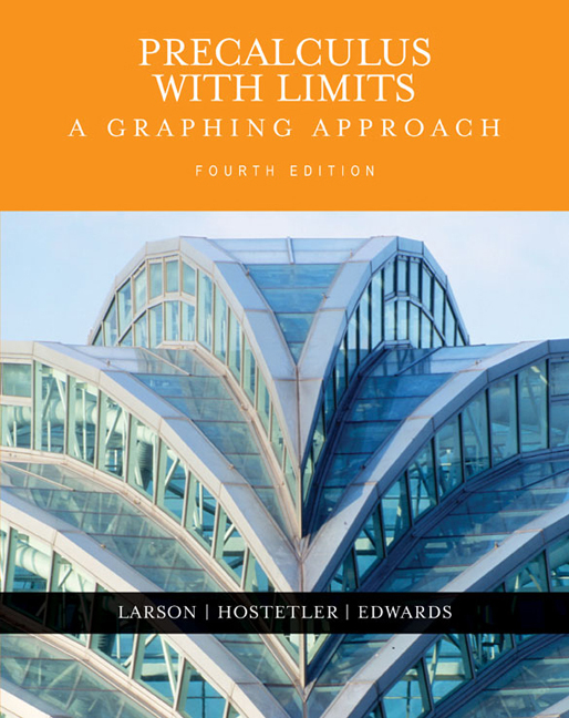 Precalculus with Limits: A Graphing Approach, 4th Edition