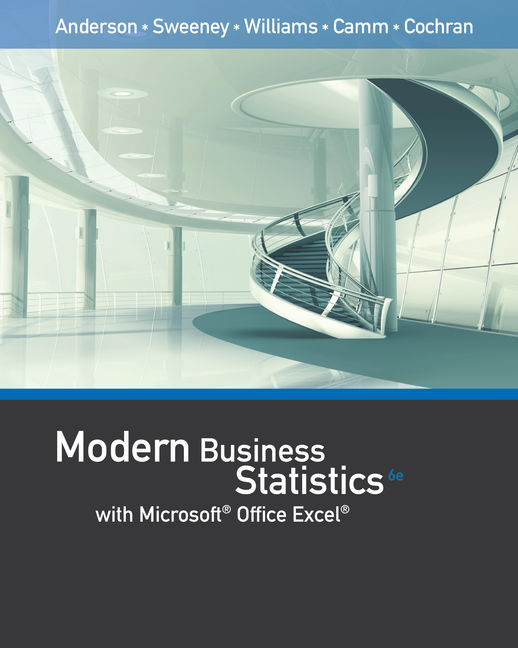 Modern business statistics with microsoft excel 6th edition cengage fandeluxe Choice Image