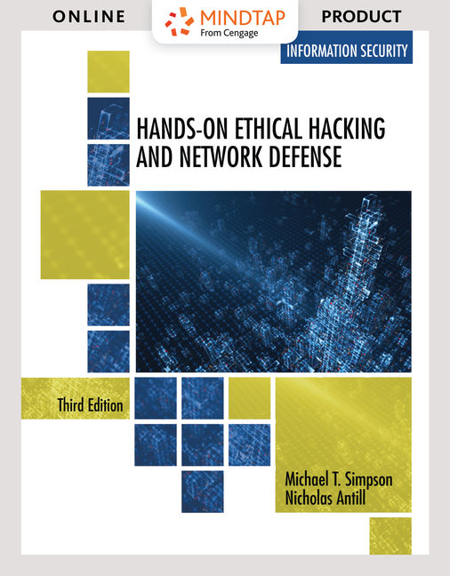 Product cover for MindTap for Hands-On Ethical Hacking and Network Defense 3rd Edition by Michael T. Simpson/Nicholas Antill