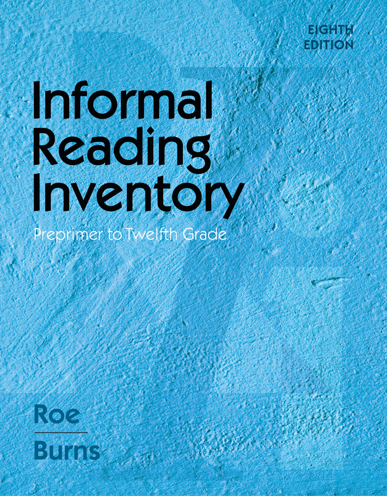 ???label.coverImageAlt??? Informal Reading Inventory: Preprimer to Twelfth Grade 8th Edition by Betty D. Roe/Paul C. Burns