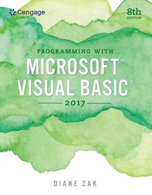 Product cover for Programming with Microsoft Visual Basic 2017 8th Edition by Diane Zak