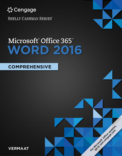 Shelly Cashman Series Microsoft Office 365 Word 2016 Comprehensive 1st Edition Cengage