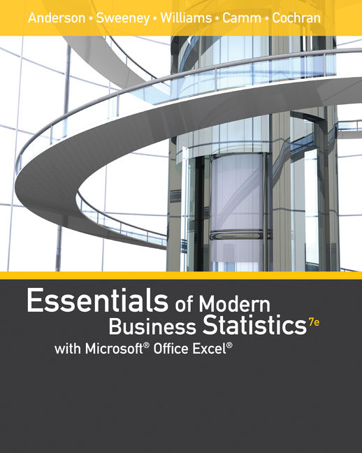 Essentials of modern business statistics with microsoft excel 7th essentials of modern business statistics with microsoft excel 7th edition cengage fandeluxe Gallery