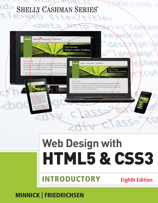 Product cover for Web Design with HTML & CSS3: Introductory 8th Edition by Jessica Minnick/Lisa Friedrichsen