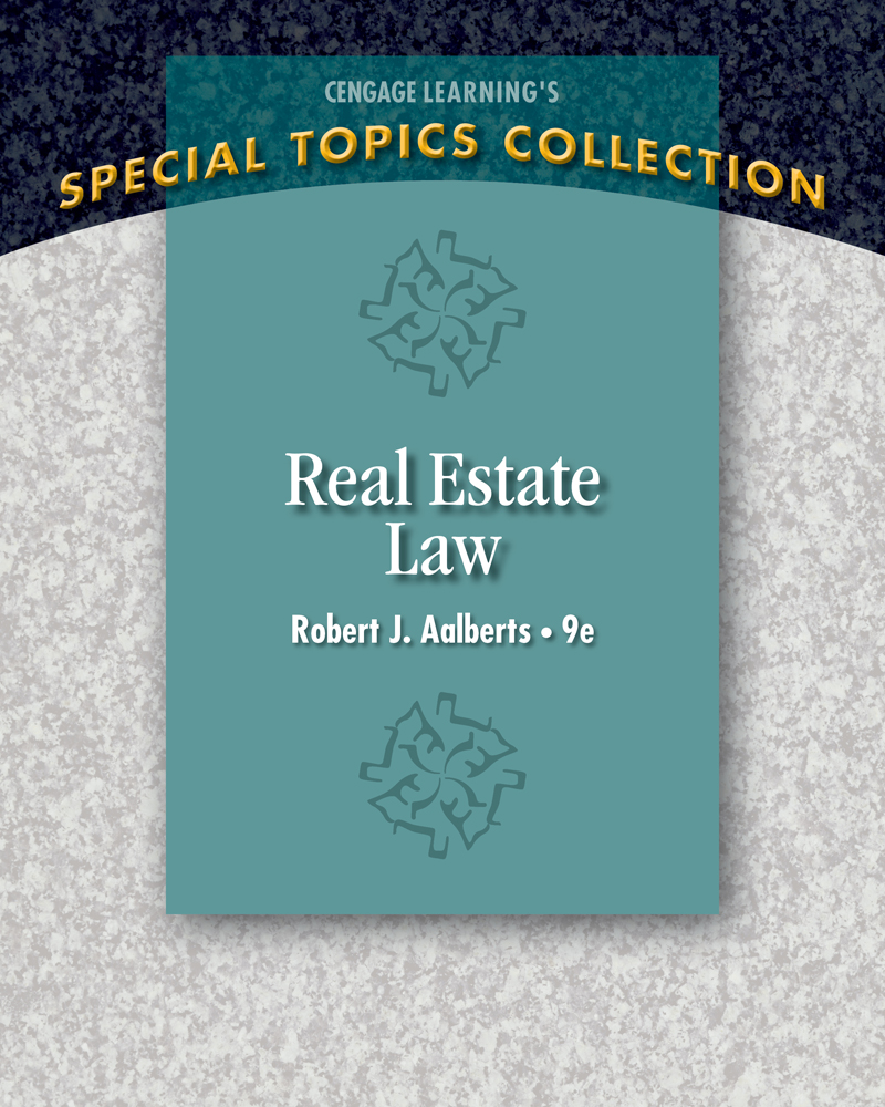 Real estate law 9th edition 9781285428765 cengage product cover for real estate law 9th edition by robert j aalberts fandeluxe Images