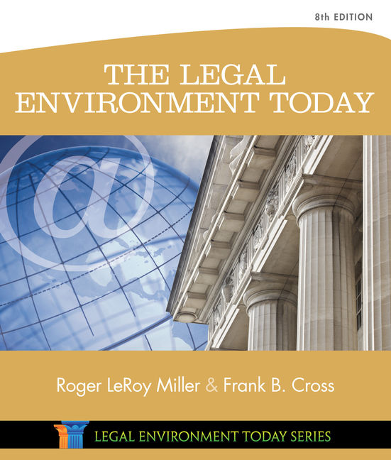 The legal environment today 8th edition 9781305075450 cengage product cover for the legal environment today 8th edition by roger leroy millerfrank b fandeluxe Image collections