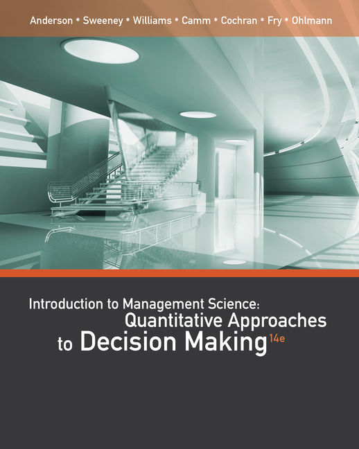 Product cover for CengageNOW for An Introduction to Management Science: Quantitative Approaches to Decision Making 14th Edition by David R. Anderson/Dennis J. Sweeney/Thomas A. Williams/Jeffrey D. Camm/James J. Cochran/Michael J. Fry/Jeffrey W. Ohlmann